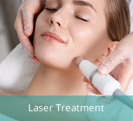 Laser treatment to chin